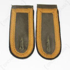 DAK Afrika Korps NCO Unterfeldwebel Shoulder Boards- Dark (Black) Thumbnail