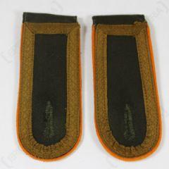 DAK Afrika Korps NCO Unterfeldwebel Shoulder Boards- Dark (Orange) Thumbnail