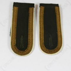 DAK Afrika Korps NCO Unteroffizier Shoulder Boards - Dark (White) Thumbnail