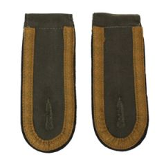 DAK Afrika Korps NCO Unteroffizier Shoulder Boards - Dark (Black) - Thumbnail