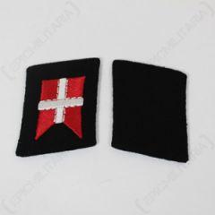 Danish Flag Collar Tabs - Imperfect Thumbnail