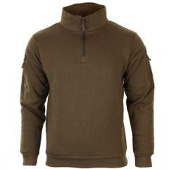 Dark Coyote Sweatshirt with Zipper