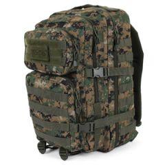 Digital Woodland Camo  MOLLE Assault Pack - Large size