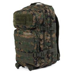 Digital Woodland Camo MOLLE Assault Pack - Regular size