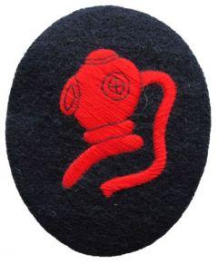 Kriegsmarine Diver Specialist Trade Badge - blue backing