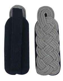 German Senior Officer Shoulder Boards - Navy Blue Piped