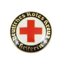 DRK Helferin Pin Badge - Thumbnail