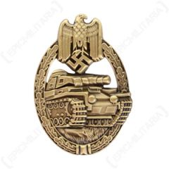 WW2 German Army Panzer Assault Badge Stamped - Bronze