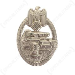 WW2 German Army Panzer Assault Badge Stamped - Silver