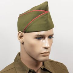 WW2 US PX Type Garrison Cap - Red and White Piped Thumbnail