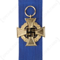 WW2 German Faithful Service Decoration in Gold without Pin