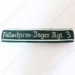 Fallschirm-Jager Regt 3 - Officers Cuff Title - Imperfect Front