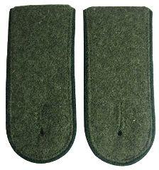 Panzer Grenadier EM Shoulder Boards Field Grey (Grass Green piped)