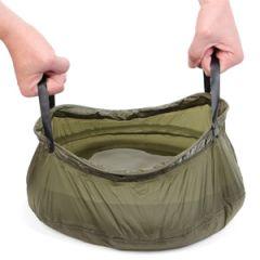 Foldable Camping 10L Wash Bowl - Olive Drab Thumbnail