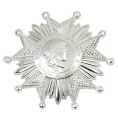 French Legion of Honor Breast Star - Silver - Thumbnail