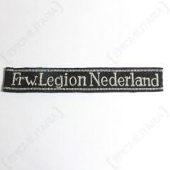 Frw. Legion Niederlande Officers Cuff Title - Misspelling Type 1 thumbnail