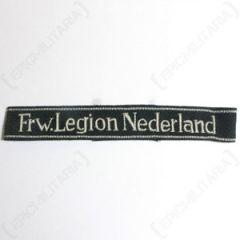 Frw. Legion Niederlande Officers Cuff Title - Misspelling Type 2 Thumbnail