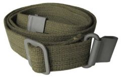 Front view of rolled up olive green canvas M1 Garand Webbing Sling