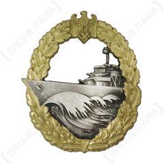 WW2 German Kriegsmarine Destroyer Badge