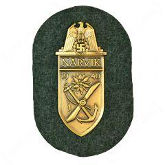 WW2 German Narvik Shield - Gold