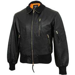 German Black Leather Pilot Jacket Thumbnail