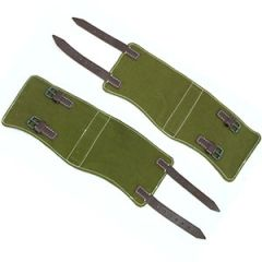 WW2 German Gaiters with Brown Leather Thumbnail