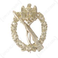 WW2 German Nickel Infantry Assault Badge - Stamped