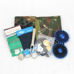German Navy Sewing Kit with Flecktarn Camo Case - Thumbnail