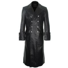 German Officer Leather Great Coat Thumbnail