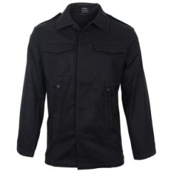 German Old Style Moleskin Field Jacket - Black