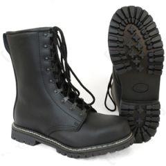 German Paratrooper Black Leather Boots with Steel Toecap
