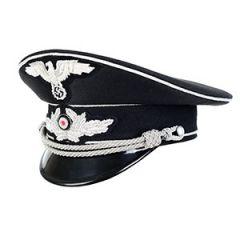WW2 German Diplomatic Officers Visor Cap - Silver Thumbnail