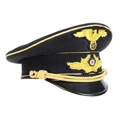 WW2 German Diplomatic Officers Visor Cap - Gold Thumbnail