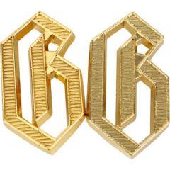 "WW2 German G ""Germania"" Metal Shoulder Cypher - Gold"