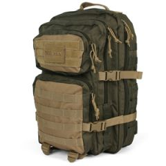36L Molle Assault Pack Large - Green and Coyote