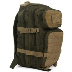 Green and Coyote MOLLE Assault Pack - Regular size