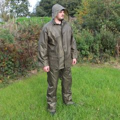 Jacket and Trousers Waterproofs Set - Olive