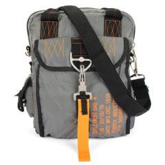 Grey Para Messenger Bag