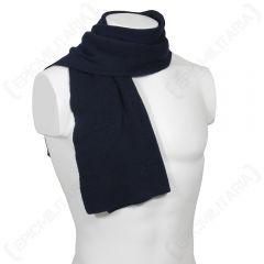 German Army Blue Wool Scarf
