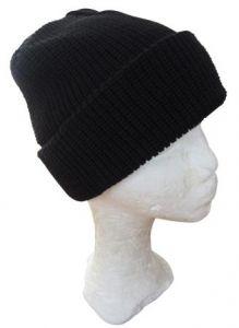 Black Winter Watch Cap