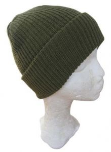 Olive Green Winter Watch Cap