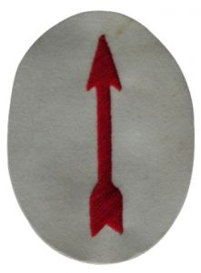 Kriegsmarine Anti Aircraft Searchlight Operator - red on white
