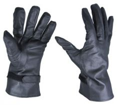 French Army Black Leather NBC Gloves