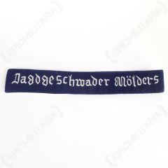 Jagdgeschwader Molders Officers Cuff Title - Imperfect Front