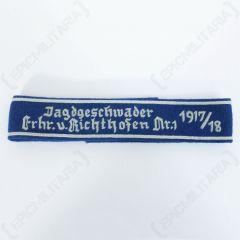 Jagdgeschwader Von Richthofen Cuff Title - Imperfect Front