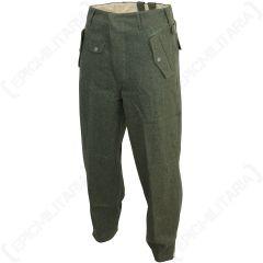 WW2 German Field Grey Jump Trousers Angled