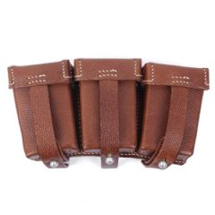 K98 Triple Ammo Pouch (Stitched, brown) Thumbnail