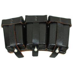 K98 Triple Ammo Pouches - Black Rivet Front - Thumbnail