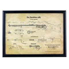German K98 Framed Blueprint Thumbnail