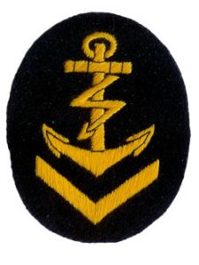 Kriegsmarine Radio Operator Senior  NCO Trade Badge